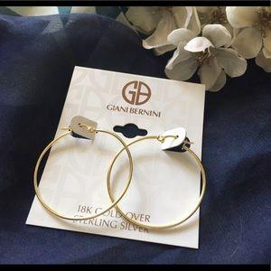 Giani Bernini Hoop Earrings 18k Gold Over silver